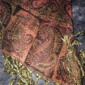 pashmina Accessories - Brown Paisley Paisley Pashmina Scarf